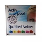 Active Pool Qualified Partner skilt